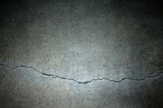 crack on the surface